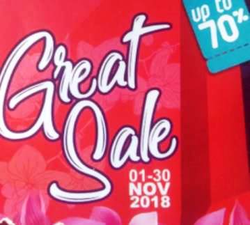 Great Sale 70%